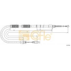 LINKA HAMULCA RECZNEGO A4,S4 -01 /T/ L PRAWA COFLE 10.7534