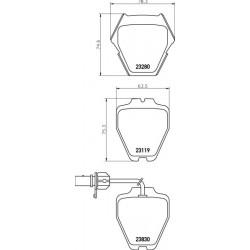 KLOCKI HAMULCOWE PRZOD A6 97-05 -CZUJNIK TEXTAR 2328001