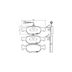 KLOCKI HAMULCOWE ALFA ROMEO 145/MAREA BREMBO P23057