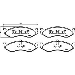 KLOCKI HAMULCOWE PRZEDNIE CHEROKEE 2.1, 2.5 90- HART 215250