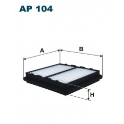FILTR POWIETRZA FILTRON AP104