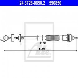 LINKA SPRZĘGŁA L 889 MM ATE 24.3728-0850.2