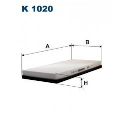 FILTR KABINY GC-7058 FILTRON KOD K1020