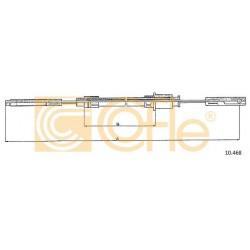 LINKA HAMULCA RĘCZNEGO CX 80- 1190 LEWA COFLE 10.468