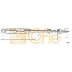 LINKA HAMULCA RĘCZNEGO UNO 83-90 488 L COFLE 1251.1