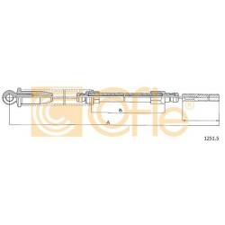 LINKA HAMULCA RĘCZNEGO UNO 83-90 2018 P COFLE 1251.2