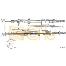 LINKA HAMULCA RĘCZNEGO SIERRA 89- 3313 COFLE 11.5482