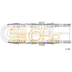 LINKA HAMULCA RĘCZNEGO TRANSIT 100L 86- 2865 COFLE 11.568
