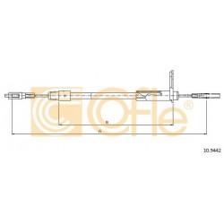 LINKA HAMULCA RĘCZNEGO DB E-KLASA 95- PRAWA COFLE 10.9442