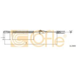LINKA HAMULCA RĘCZNEGO ASTRA H 04- 182 BĘBNY COFLE 11.5959