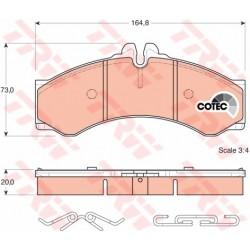 KLOCKI HAMULCOWE /P+T/ SPRINTER 400,408-14 95- TRW GDB1288