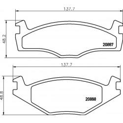 KLOCKI HAMULCOWE PRZOD GOLF 1.6 79-83, 1.8 83-91 TEXTAR 2088707