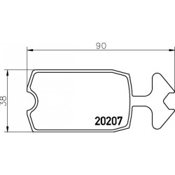 KLOCKI HAMULCOWE PRZÓD CITROEN C15 88- TEXTAR 2020709