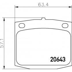 KLOCKI HAMULCOWE PRZÓD CITROEN C25 1.9D 90- TEXTAR 2064301