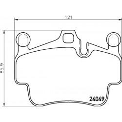KLOCKI HAMULCOWE PRZOD 911 CARRERA 3.8 05- TEXTAR 2404901