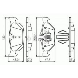 KLOCKI HAMULCOWE BMW 1 E87 BOSCH 0.986.494.272