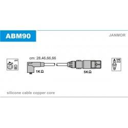 PRZEWODY ZAPLONOWE A3,GOLF IV,V 1.6 96- /SC/ JANMOR ABM90