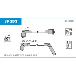 PRZEWODY ZAPLONOWE ACCENT 1.3I,1.5I 94- /SI/ JANMOR JP353