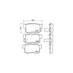 KLOCKI HAMULCOWE ACURA LEGEND BREMBO P28022