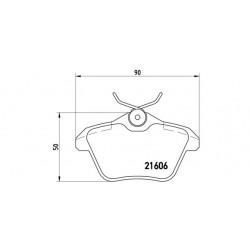 KLOCKI HAMULCOWE ALFA ROMEO 156 TYL BREMBO P23067