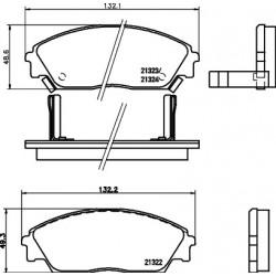 KLOCKI HAMULCOWE PRZEDNIE HONDA CIVIC 1.6 88- HART 215232