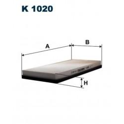 FILTR KABINOWY FILTRON K1020
