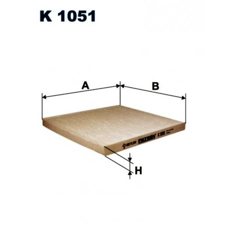 FILTR KABINOWY FILTRON K1051