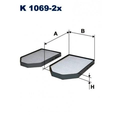 FILTR KABINOWY FILTRON K1069-2X