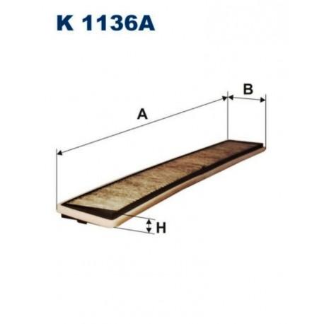 FILTR KABINOWY FILTRON K1136A