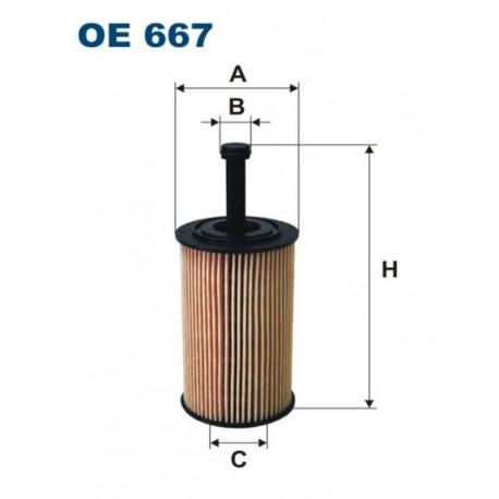 FILTR OLEJU FILTRON OE667