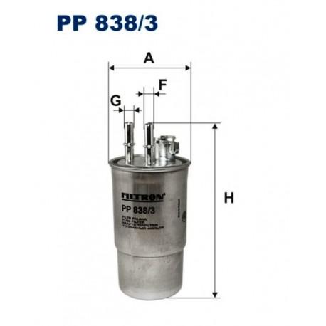 FILTR PALIWA FILTRON PP838/3