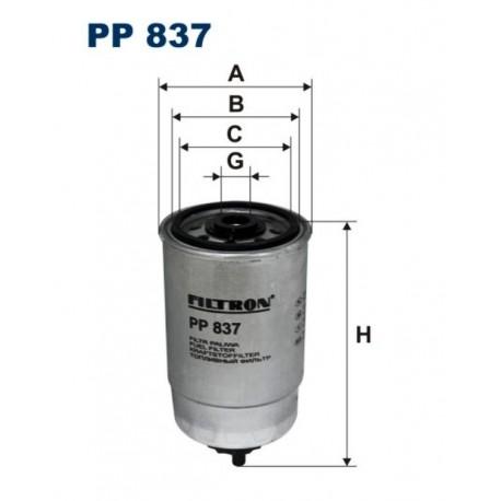 FILTR PALIWA FILTRON PP837