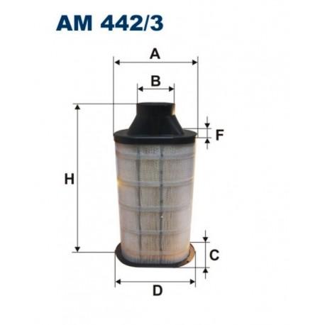 FILTR POWIETRZA FILTRON AM442/3