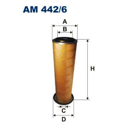 FILTR POWIETRZA FILTRON AM442/6