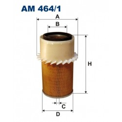 FILTR POWIETRZA FILTRON AM464/1