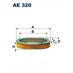 FILTR POWIETRZA FILTRON AE320