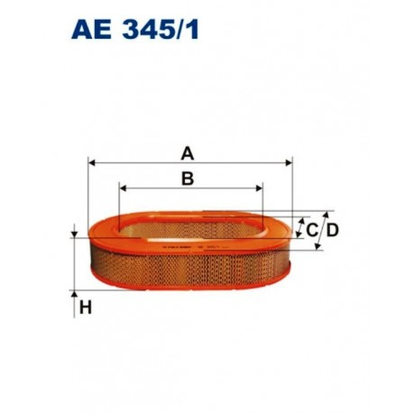FILTR POWIETRZA FILTRON AE345/1
