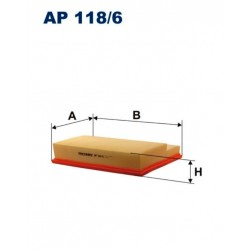 FILTR POWIETRZA FILTRON AP118/6