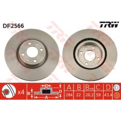 TARCZA HAMULCOWA ALFA/FIAT DOBLO 284MM TRW DF2566