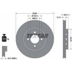 HAM.TARCZA P IBIZA III 1.9TDI 99-02 TEXTAR 92043500