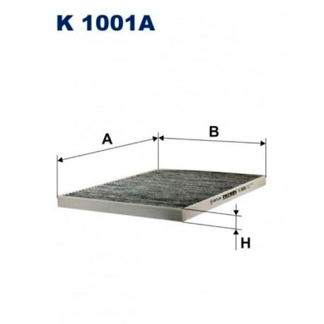 FILTR KABINY WT325011C ZAMIENNIK FILTRONA K1001A