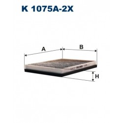 FILTR KABINY 338 481 ZAMIENNIK FILTRONA K1075A-2X