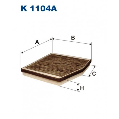 FILTR KABINY 338 512 ZAMIENNIK FILTRONA K1104A