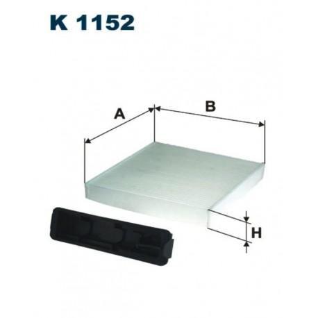 FILTR KABINY 338 526 ZAMIENNIK FILTRONA K1152