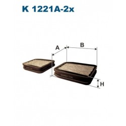 FILTR KABINY 338 562 ZAMIENNIK FILTRONA K1221A-2X