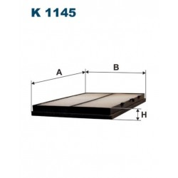 FILTR KABINY 338 584 ZAMIENNIK FILTRONA K1145