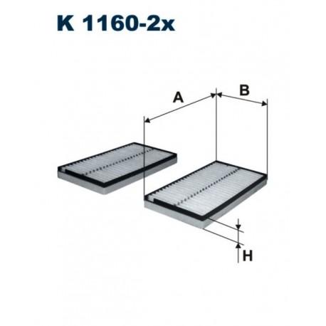 FILTR KABINY 338 604 ZAMIENNIK FILTRONA K1160-2X