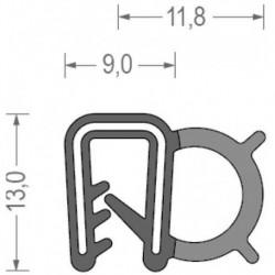 USZCZELKA UNIWERSALNA EPDM 1-3 MM CZARNA 1 METR RS34.8421