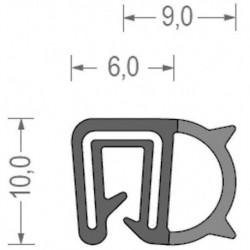 USZCZELKA UNIWERSALNA EPDM 2-2,5 MM CZARNA 1 METR RS34.8811