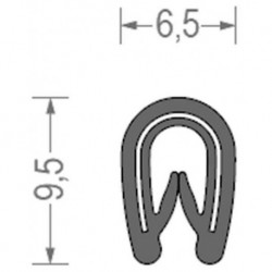 USZCZELKA UNIWERSALNA PCW 1-2 MM CZARNA 1 METR RS34.3441